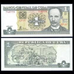 CUBA - Billet de 1 Peso - José Martí - 2005 P121e