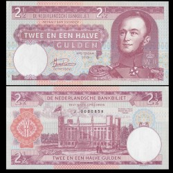 PAYS BAS - Billet de 2 1/2 GULDEN - Guillaume II / Koning Willem II - 2019 002_1/2 - J - Gabris