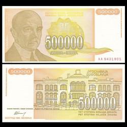 YOUGOSLAVIE - Billet de 500000 Dinara - Jovan Cvijić - 1994 P143a