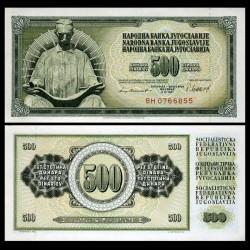 YOUGOSLAVIE - Billet de 500 Dinara - 4 XI 1981