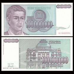 YOUGOSLAVIE - Billet de 100000000 Dinara - 1993