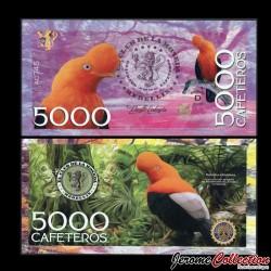 COLOMBIE - La moneda - Billet de 5000 Cafeteros - 2016 05000