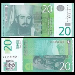 SERBIE - Billet de 20 Dinara - 2006 - Petar II Njegoš