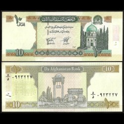 AFGHANISTAN - Billet de 10 Afghanis - Mausolée de Mir Wais Khan Hotak - 2004