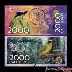 COLOMBIE - La moneda - Billet de 2000 Cafeteros - 2016