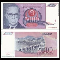 YOUGOSLAVIE - Billet de 5000 Dinara - Ivo Andrić - 1991