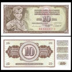 YOUGOSLAVIE - Billet de 10 Dinara - Arif Heralić - 04.11.1981