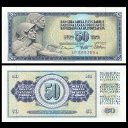 YOUGOSLAVIE - Billet de 50 Dinara - 12 VIII 1978