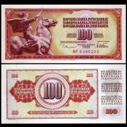 YOUGOSLAVIE - Billet de 100 Dinara - 12 VIII 1978