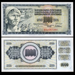 YOUGOSLAVIE - Billet de 1000 Dinara - Paysanne - 12 VIII 1978