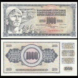 YOUGOSLAVIE - Billet de 1000 Dinara - Paysanne - 4 XI 1981