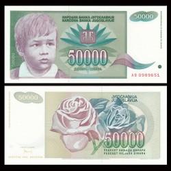 YOUGOSLAVIE - Billet de 50000 Dinara - Enfant - 1992 P117a