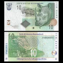AFRIQUE DU SUD - Billet de 10 Rand - Rhinoceros et son petit - 2005