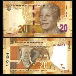 AFRIQUE DU SUD - Billet de 20 Rand - ELEPHANT - 2012