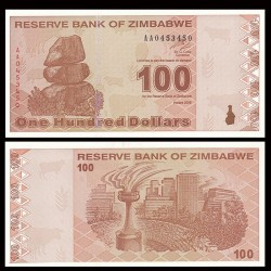 ZIMBABWE - Billet de 100 DOLLARS - 2009