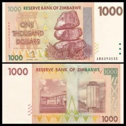 ZIMBABWE - Billet de 1000 DOLLARS - 2007
