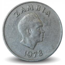 ZAMBIE - PIECE de 5 Ngwee - Plante Convolvulaceae - 1978