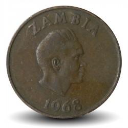 ZAMBIE - PIECE de 2 Ngwee - Aigle martial - 1968