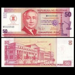 PHILIPPINES - Billet de 50 Piso - 45ème journée de l'ASEAN - 2012