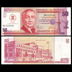 PHILIPPINES - Billet de 50 Piso - 50 ans Université Trinity d'Asie - 2013