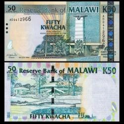MALAWI - Billet de 50 Kwacha - 40 ans d'indépendance du Malawi (1964-2004) - 2004 P49a