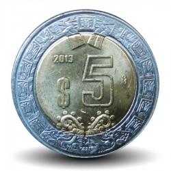 MEXIQUE - PIECE de 5 Pesos - Bimétal - 2013