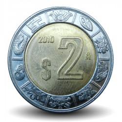 MEXIQUE - PIECE de 2 Pesos - Bimétal - 2010