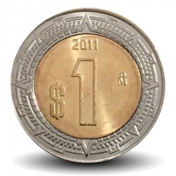 MEXIQUE - PIECE de 1 Peso - Bimétal - 2011