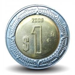 MEXIQUE - PIECE de 1 Peso - Bimétal - 2008