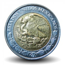 MEXIQUE - PIECE de 1 Peso - Bimétal - 2008