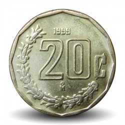 MEXIQUE - PIECE de 20 Centavos - 1999