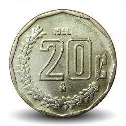 MEXIQUE - PIECE de 20 Centavos - 1999 Km#548