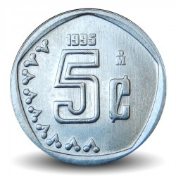MEXIQUE - PIECE de 5 Centavos - 1995 Km#546