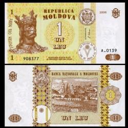 MOLDAVIE - Billet de 1 Leu - 2006