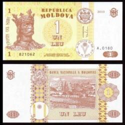 MOLDAVIE - Billet de 1 Leu - 2010