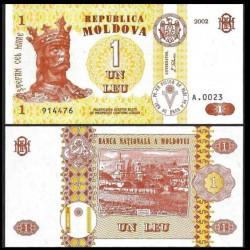 MOLDAVIE - Billet de 1 Leu - 2002