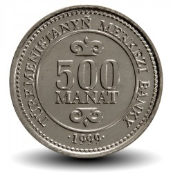 TURKMENISTAN - PiECE de 500 Manat - Saparmurat Niyazov - 1999 Km#12