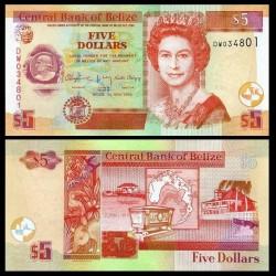 BELIZE - Billet de 5 Dollars - Cercueil de Thomas Potts - 2016 P67g