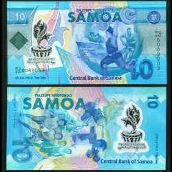 SAMOA - BILLET de 10 Tala - XVI Jeux du Pacifique - Polymer - 2019 P45a