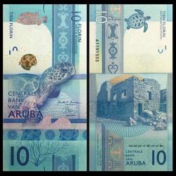 ARUBA - Billet de 10 Florin - Tortue verte - 2019