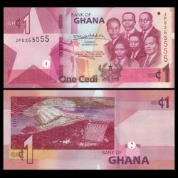 GHANA - Billet de 1 Cedi - Barrage d'Akosombo - 2019
