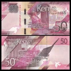 KENYA - Billet de 50 Shillings - Centre de convention international Kenyatta - 2019