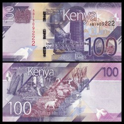 KENYA - Billet de 100 Shillings - Centre de convention international Kenyatta - 2019