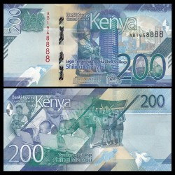 KENYA - Billet de 200 Shillings - Centre de convention international Kenyatta - 2019