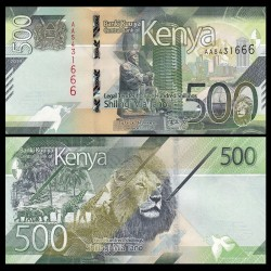 KENYA - Billet de 500 Shillings - Centre de convention international Kenyatta - 2019