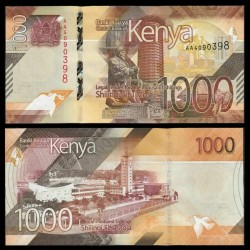 KENYA - Billet de 1000 Shillings - Centre de convention international Kenyatta - 2019