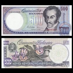 VENEZUELA - Billet de 500 Bolivares - Orchidées - 1998