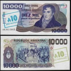 ARGENTINE - Billet de 10 Australes sur 10000 Pesos - 1985 P322c
