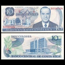 COSTA RICA - Billet de 10 Colones - Rodrigio Facio Brenes - 2.10.1985 P237b.15