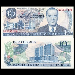 COSTA RICA - Billet de 10 Colones - Rodrigio Facio Brenes - 2.10.1985